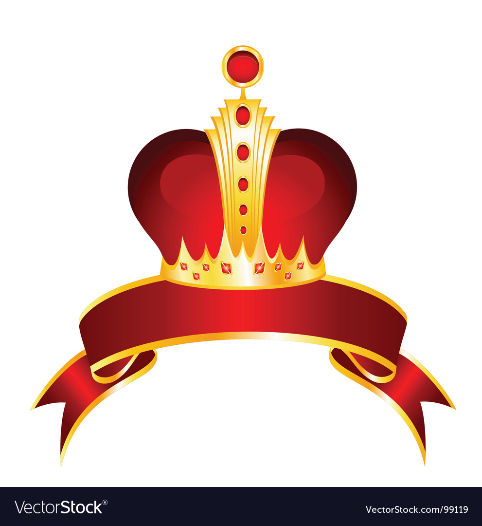 Crown and ribbon vector | Price: 1 Credit (USD $1)