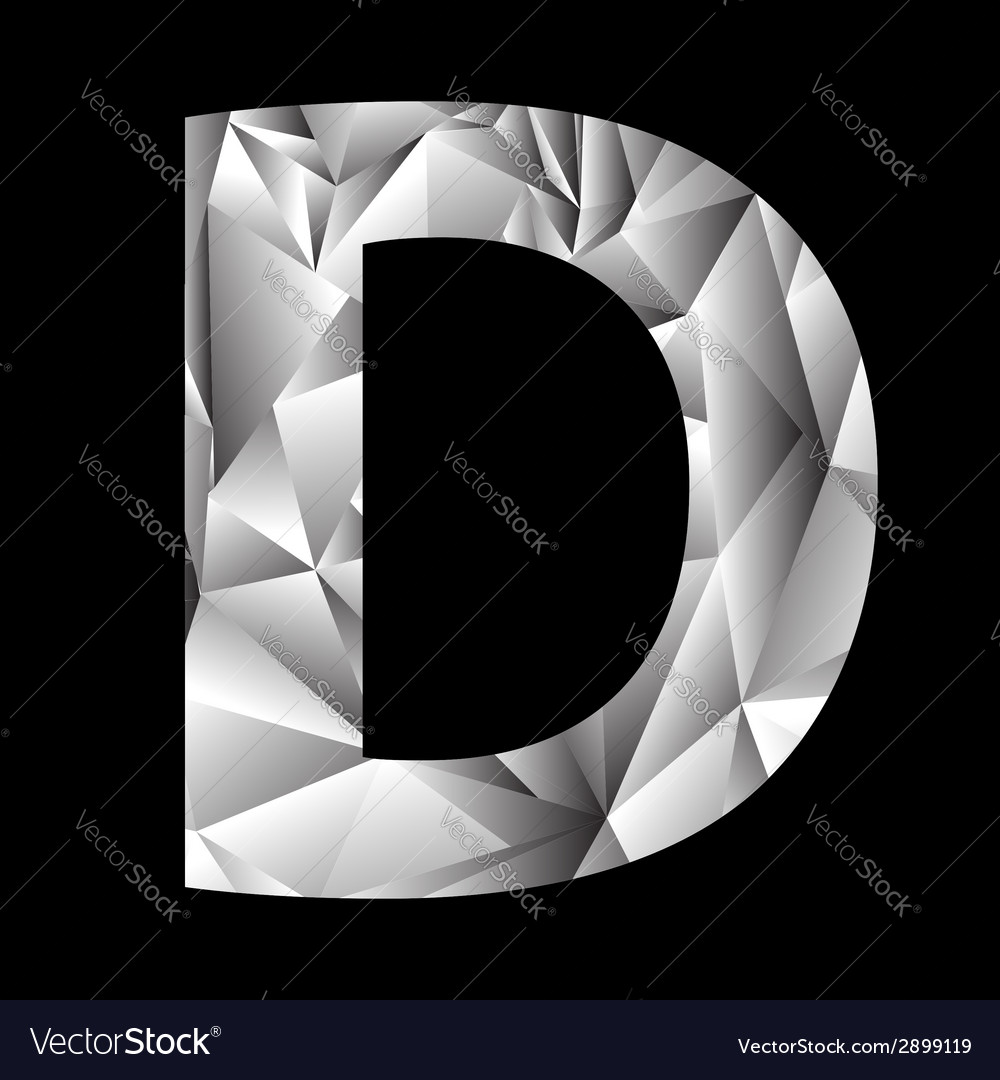 Crystal letter d vector | Price: 1 Credit (USD $1)
