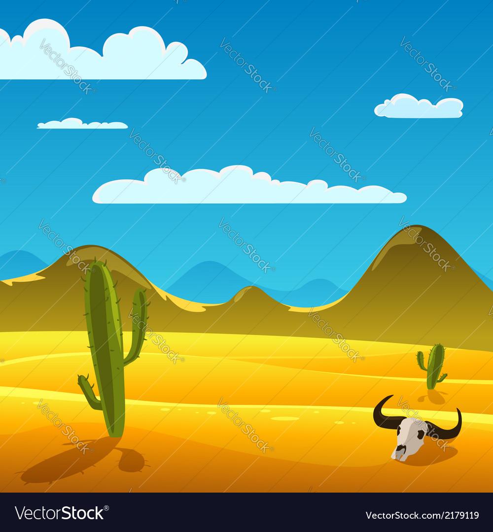 Desert cartoon landscape vector   Price: 3 Credit (USD $3)