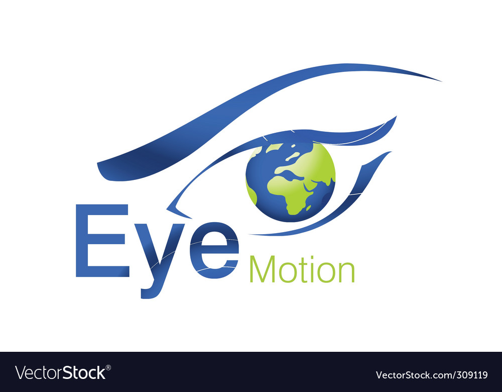 Eye motion logo vector | Price: 1 Credit (USD $1)