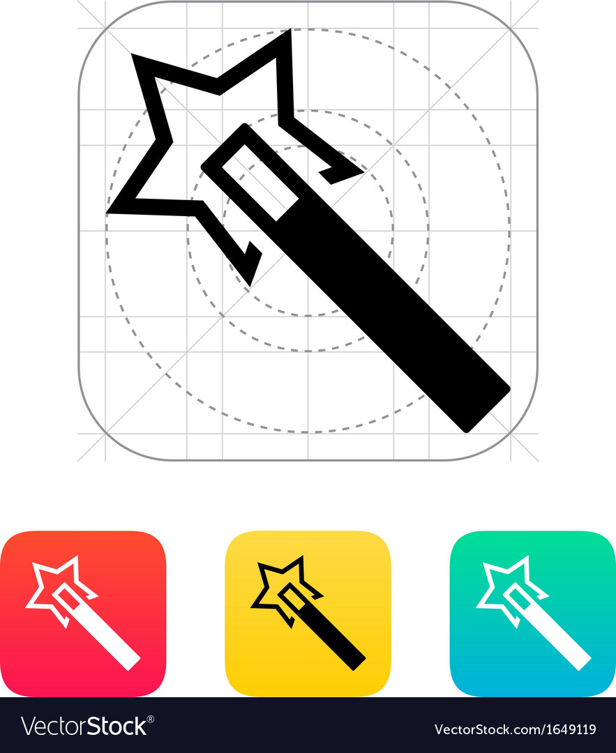 Flash magic wand icon vector | Price: 1 Credit (USD $1)