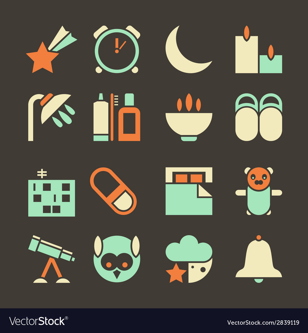 Icons deep sleep vector | Price: 1 Credit (USD $1)