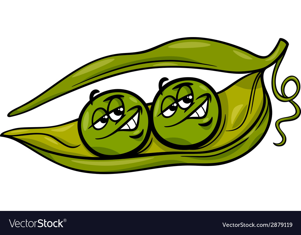 Like two peas in a pod cartoon vector | Price: 1 Credit (USD $1)