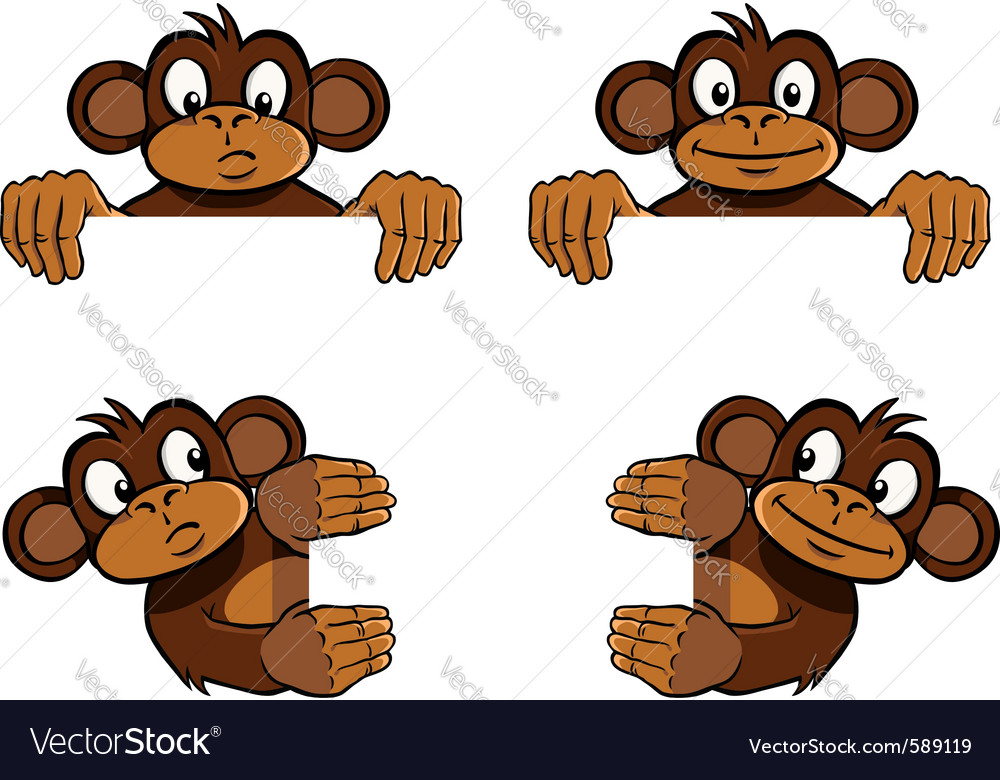 Monkey frame decoration vector | Price: 3 Credit (USD $3)