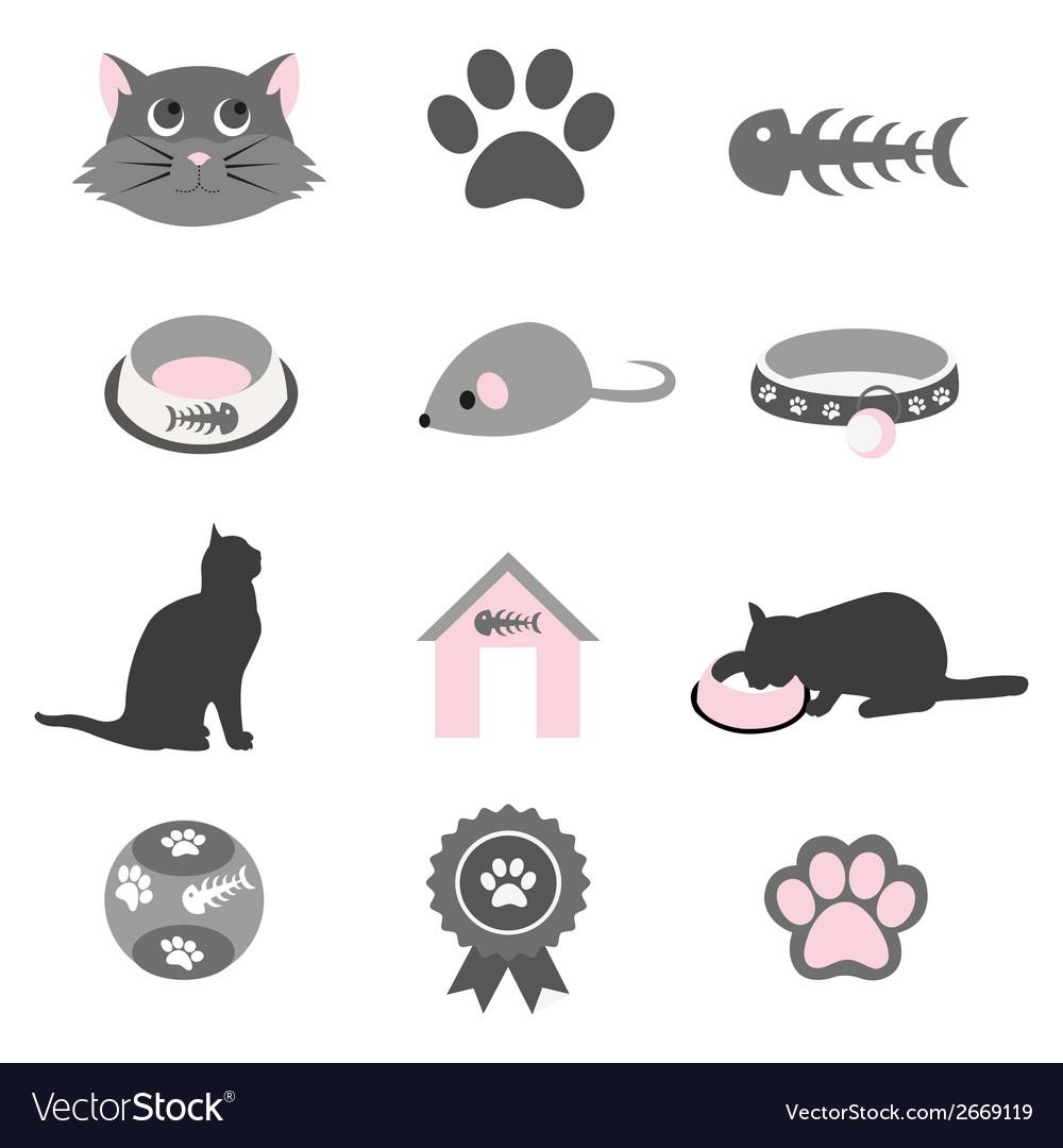 Pet icon set vector | Price: 1 Credit (USD $1)