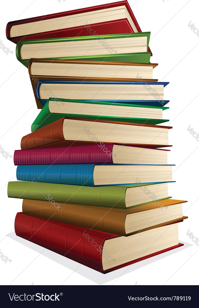 Pile of books isolated on white vector | Price: 3 Credit (USD $3)