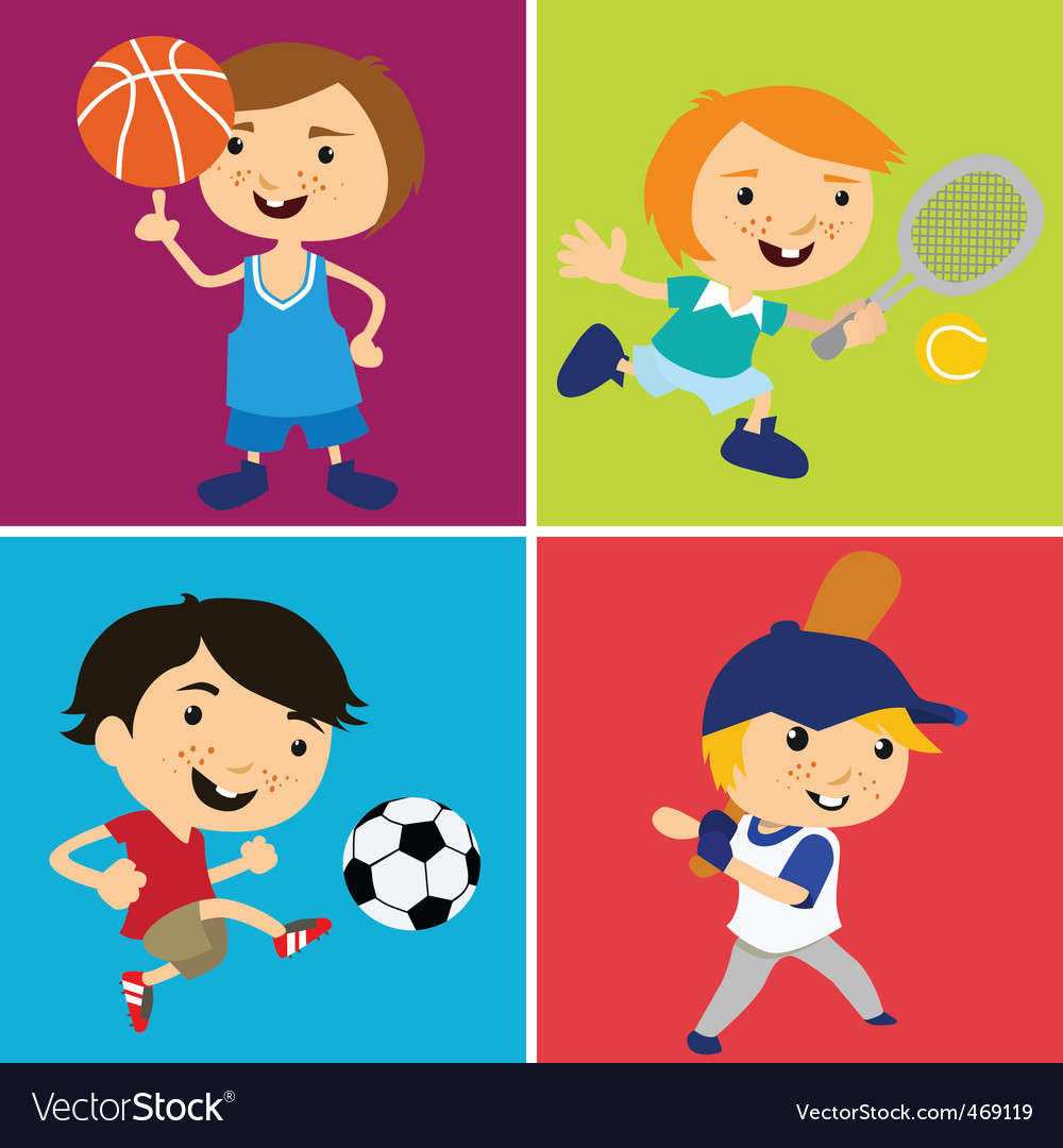 Sport kids vector | Price: 1 Credit (USD $1)