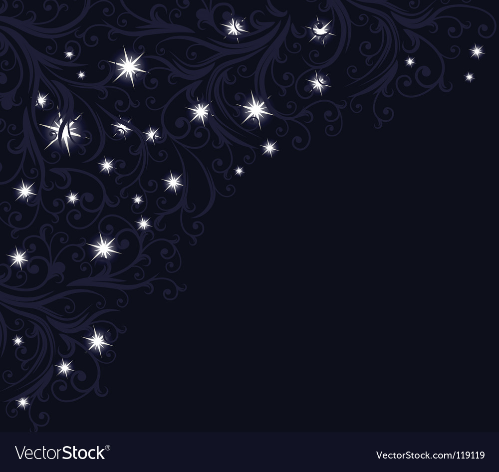 Starry night vector | Price: 1 Credit (USD $1)