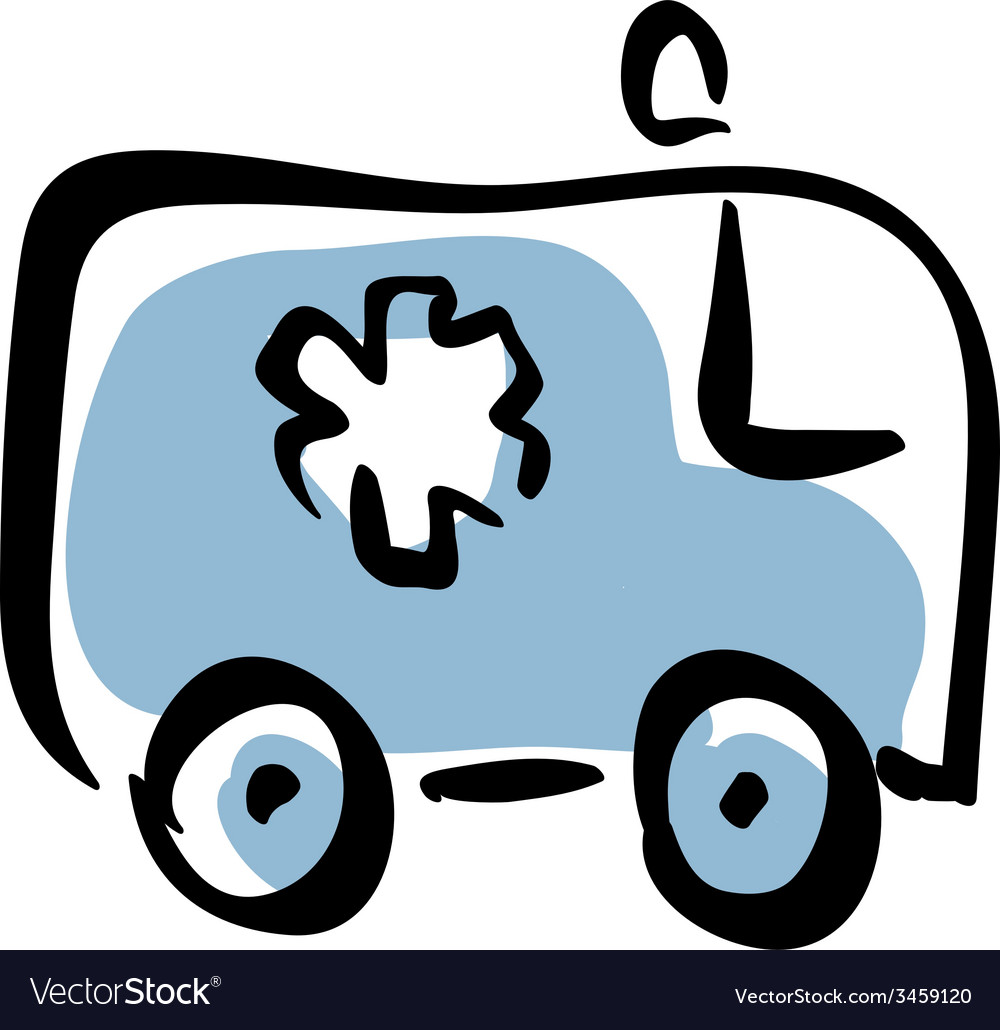 Ambulance car medical icon vector | Price: 1 Credit (USD $1)