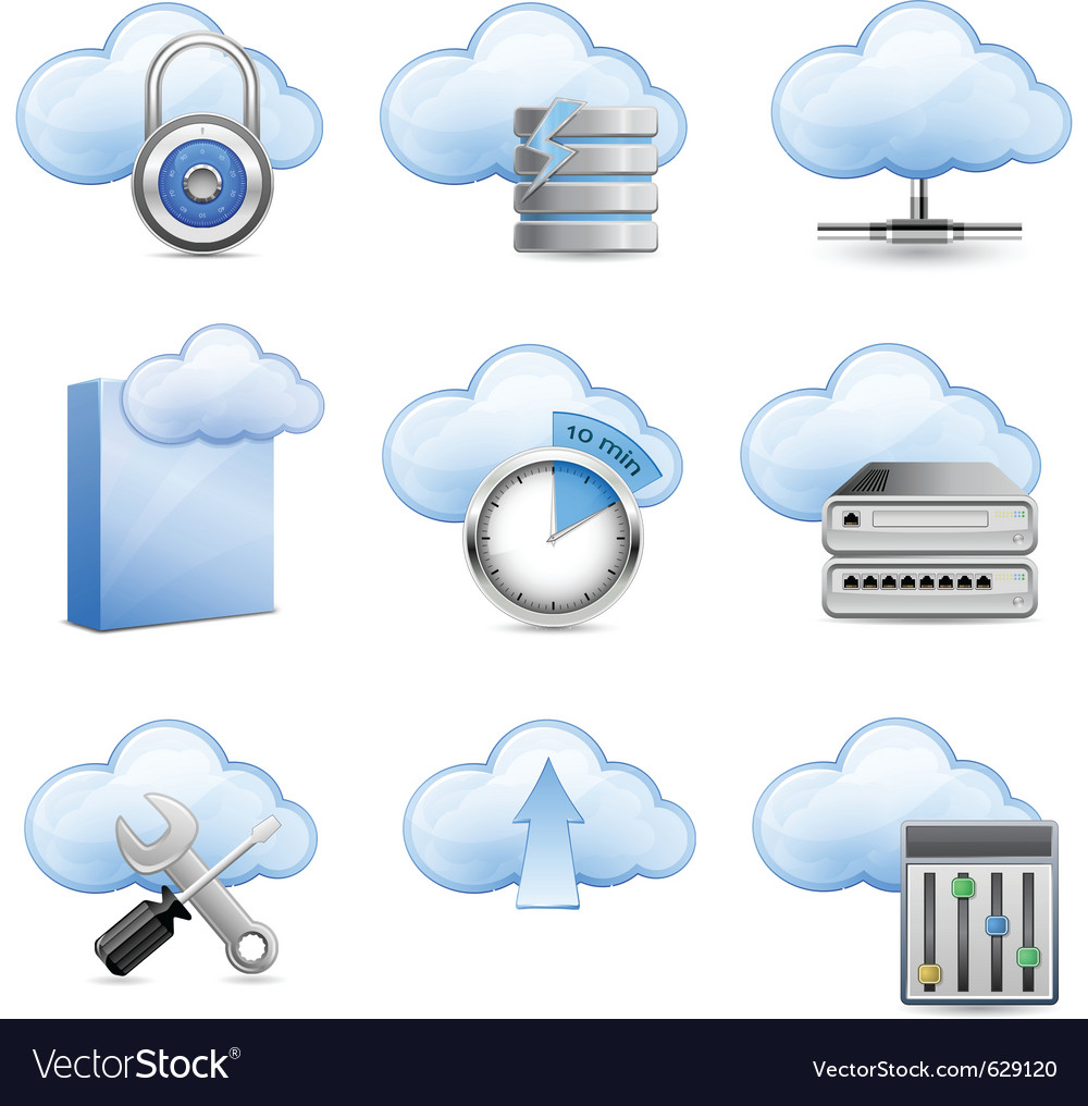 Cloud hosting vector | Price: 1 Credit (USD $1)