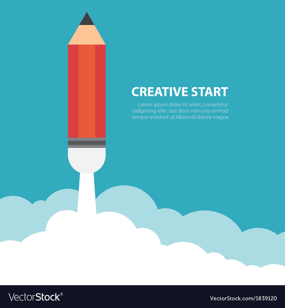 Creative start vector | Price: 1 Credit (USD $1)
