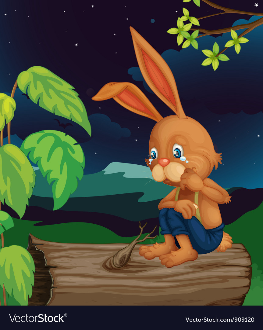 Crying rabbit vector | Price: 3 Credit (USD $3)