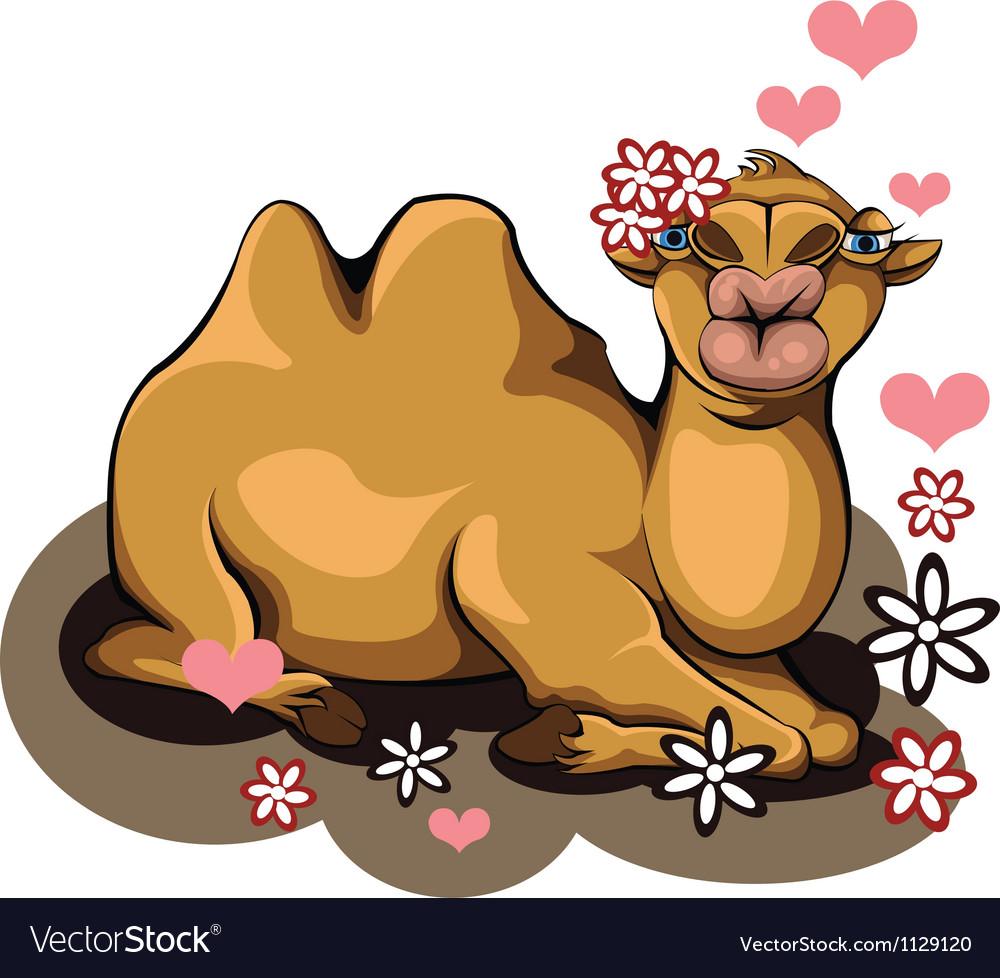 Kiss a camel vector | Price: 3 Credit (USD $3)