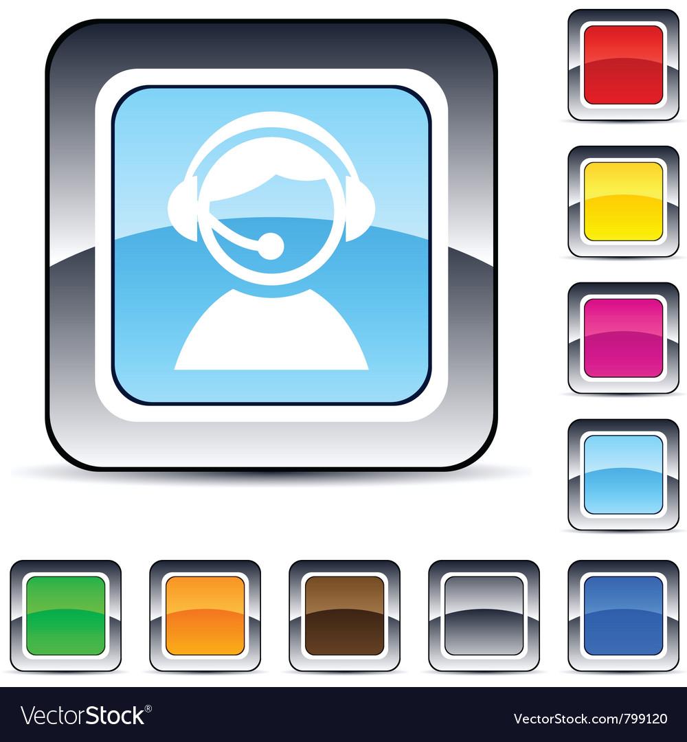 Operator square button vector | Price: 1 Credit (USD $1)