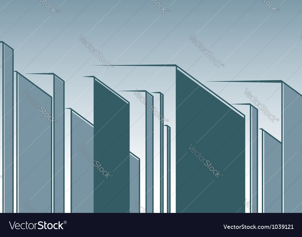 Abstract urban landscape vector | Price: 1 Credit (USD $1)