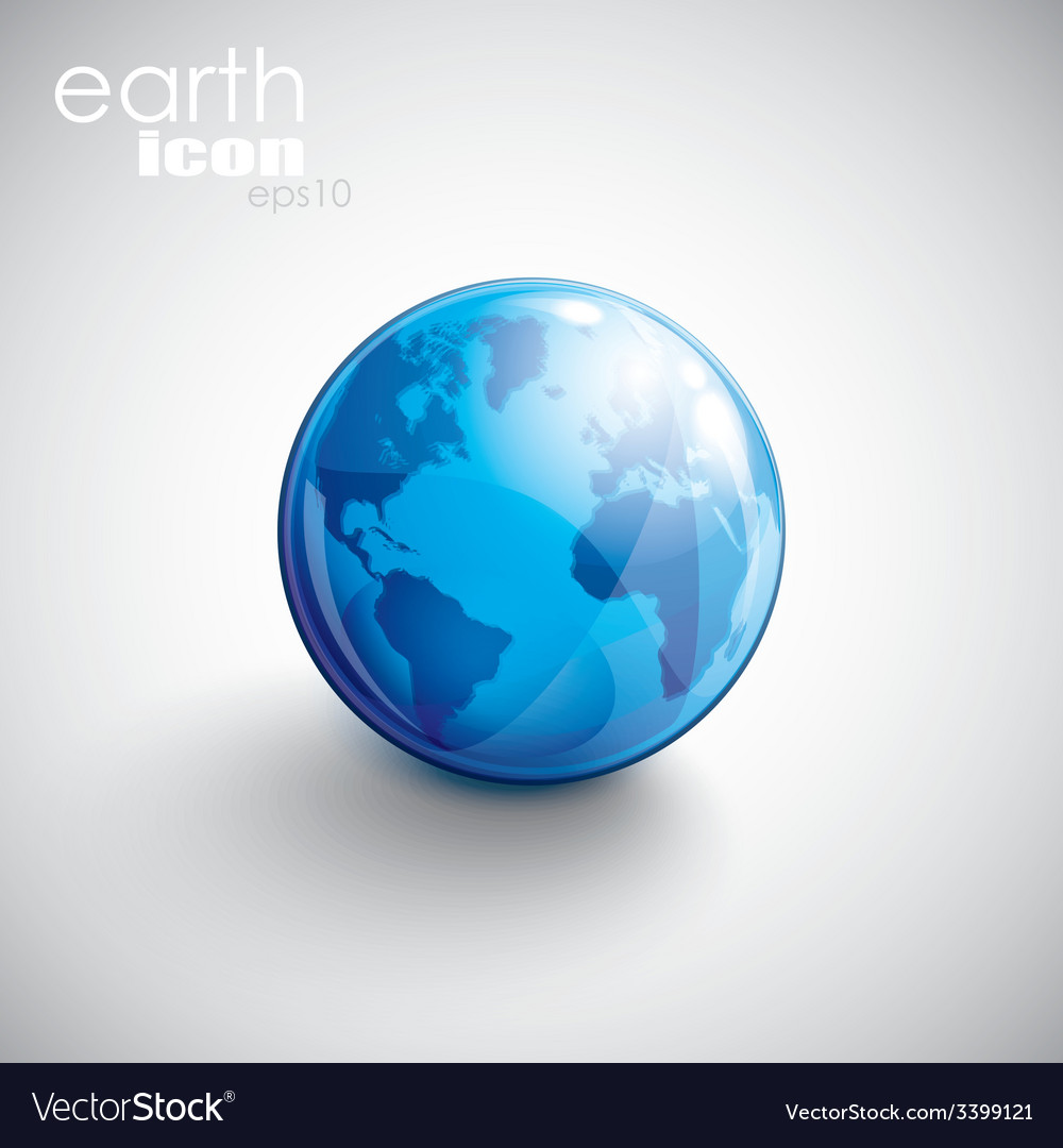 Background with globe icon vector | Price: 1 Credit (USD $1)