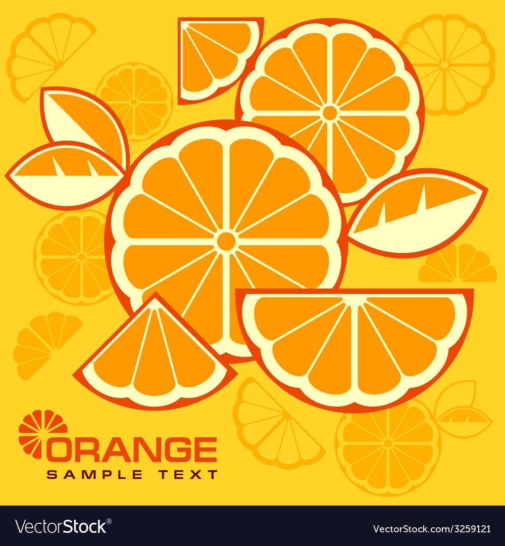 Citrus fruit slices background vector | Price: 1 Credit (USD $1)