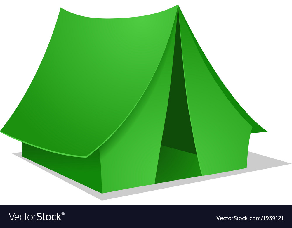 Green camping tent vector | Price: 1 Credit (USD $1)
