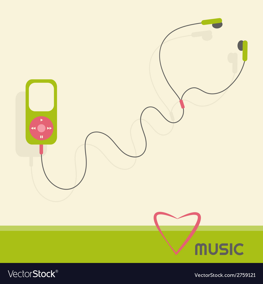Green music player vector | Price: 1 Credit (USD $1)