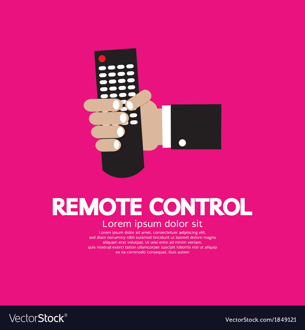 Hand holding a remote control vector | Price: 1 Credit (USD $1)