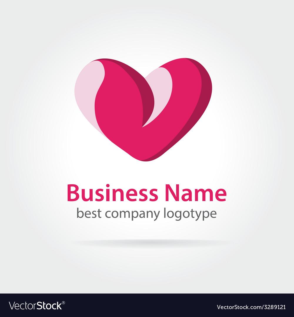 Heart logotype vector | Price: 1 Credit (USD $1)