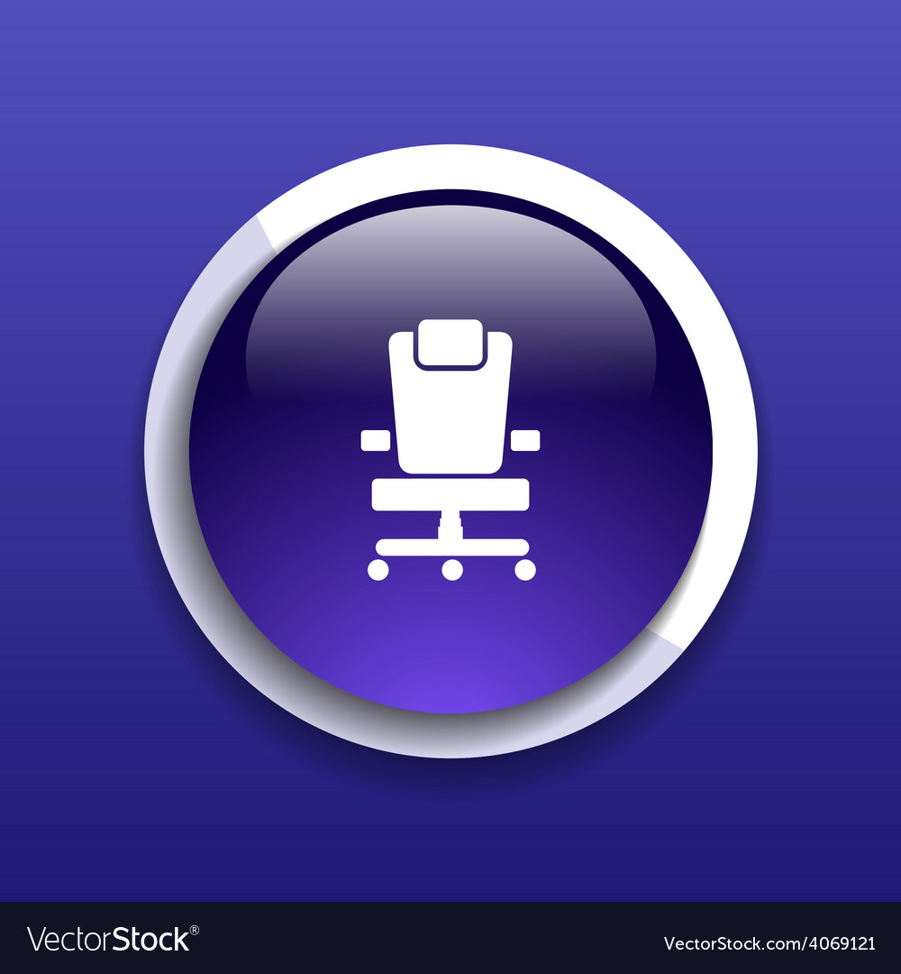 Office chair icon business seat shape equipment vector | Price: 1 Credit (USD $1)