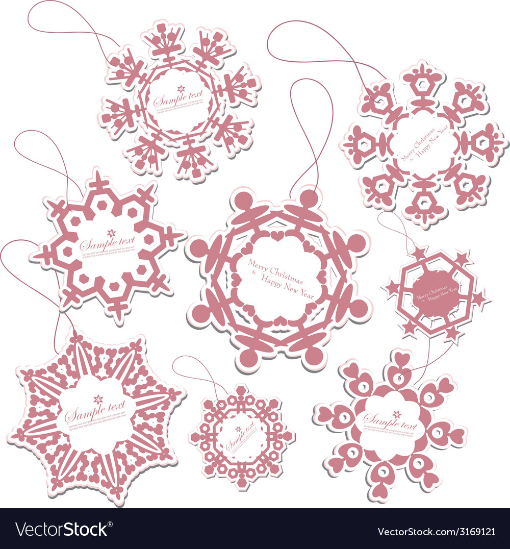 Set of christmas tags vector | Price: 1 Credit (USD $1)
