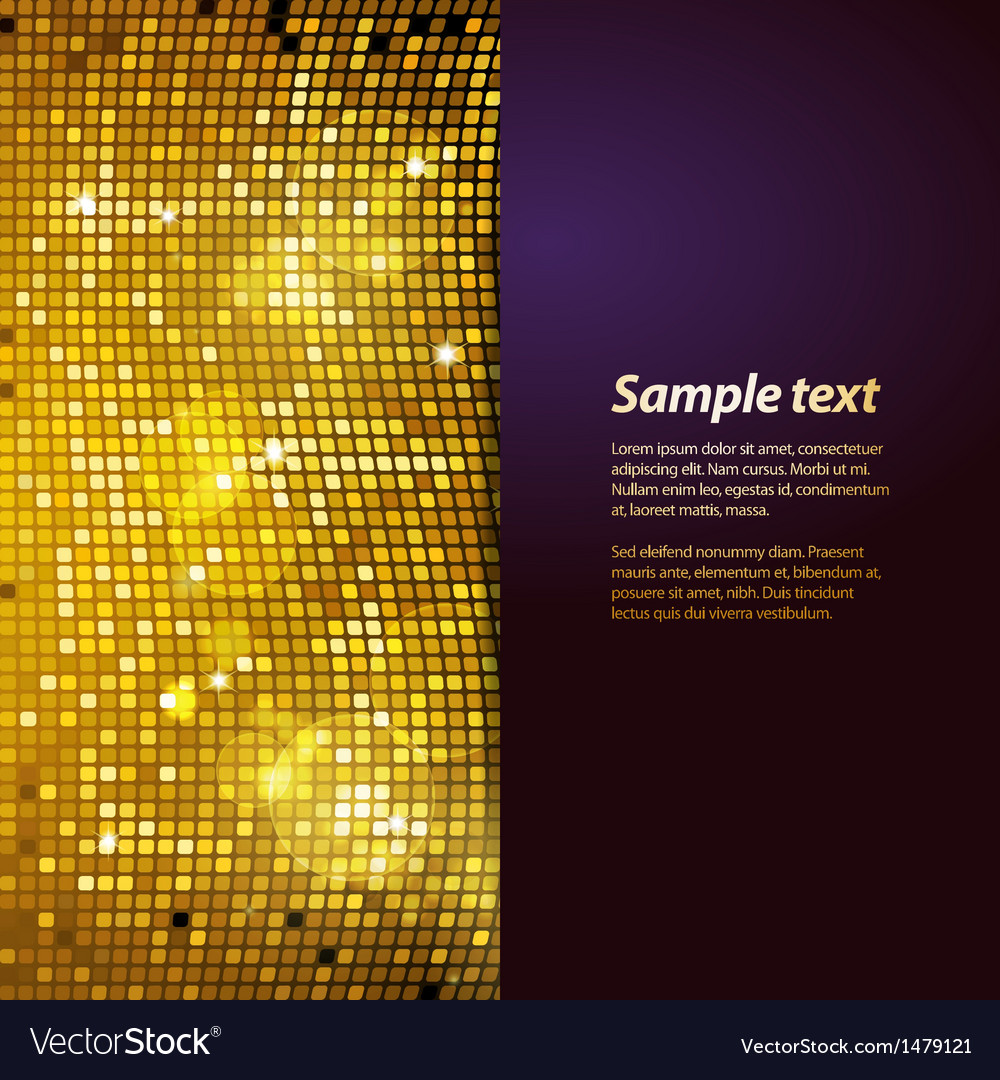 Sparkling gold mosaic and puple panel background vector | Price: 1 Credit (USD $1)
