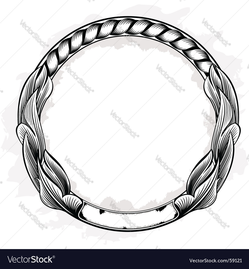 Vintage circle frame vector | Price: 1 Credit (USD $1)