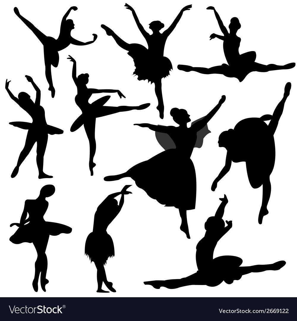 Ballet ballerina silhouette vector | Price: 1 Credit (USD $1)