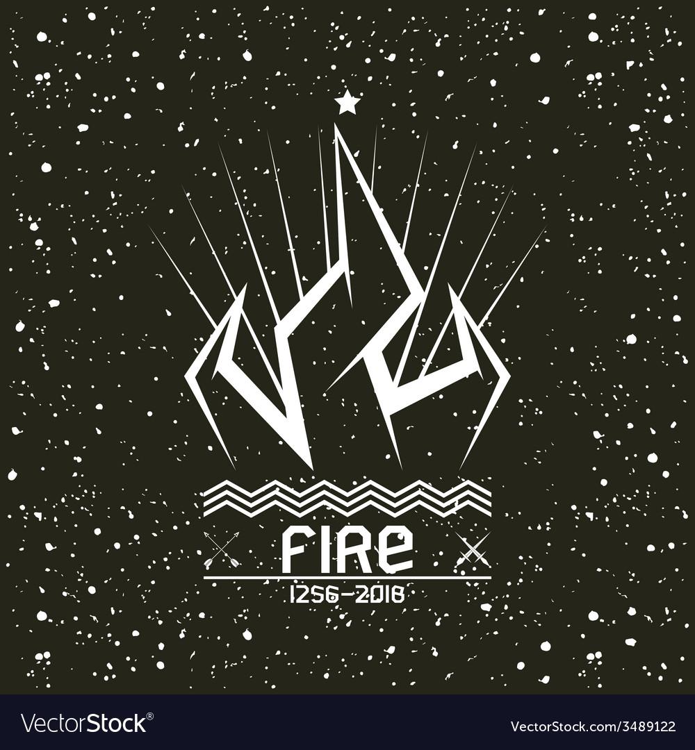 Campfire emblem vector | Price: 1 Credit (USD $1)