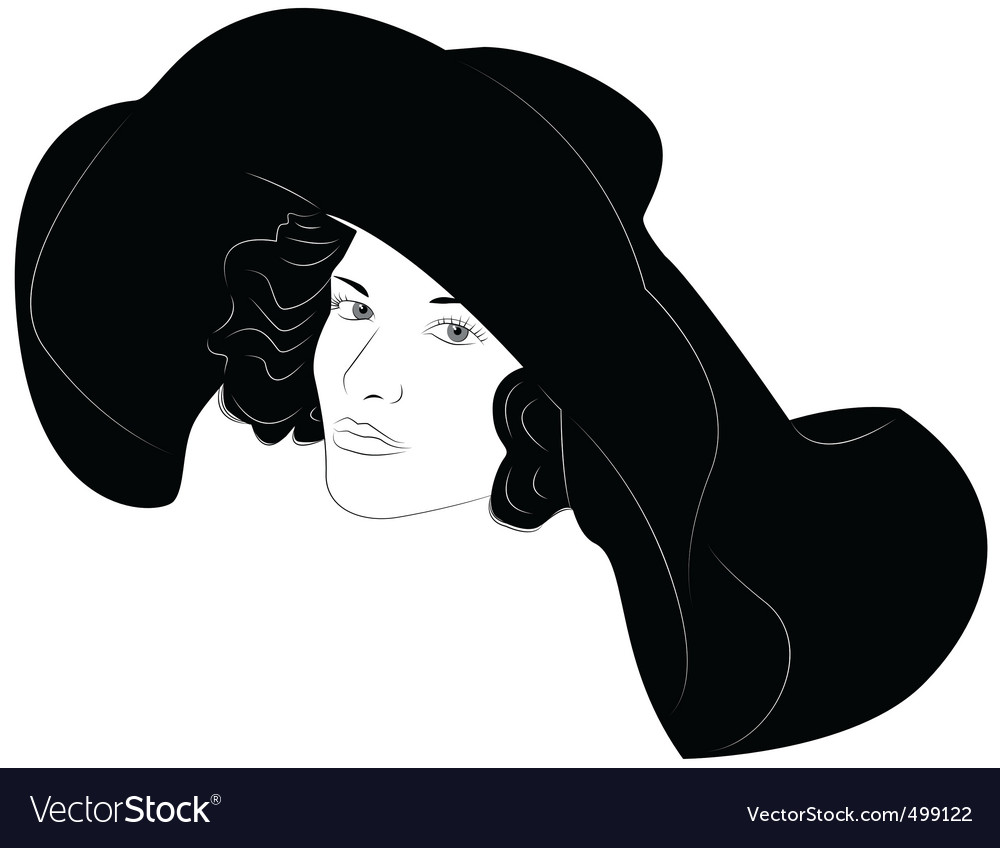 Fashionable hat vector | Price: 3 Credit (USD $3)