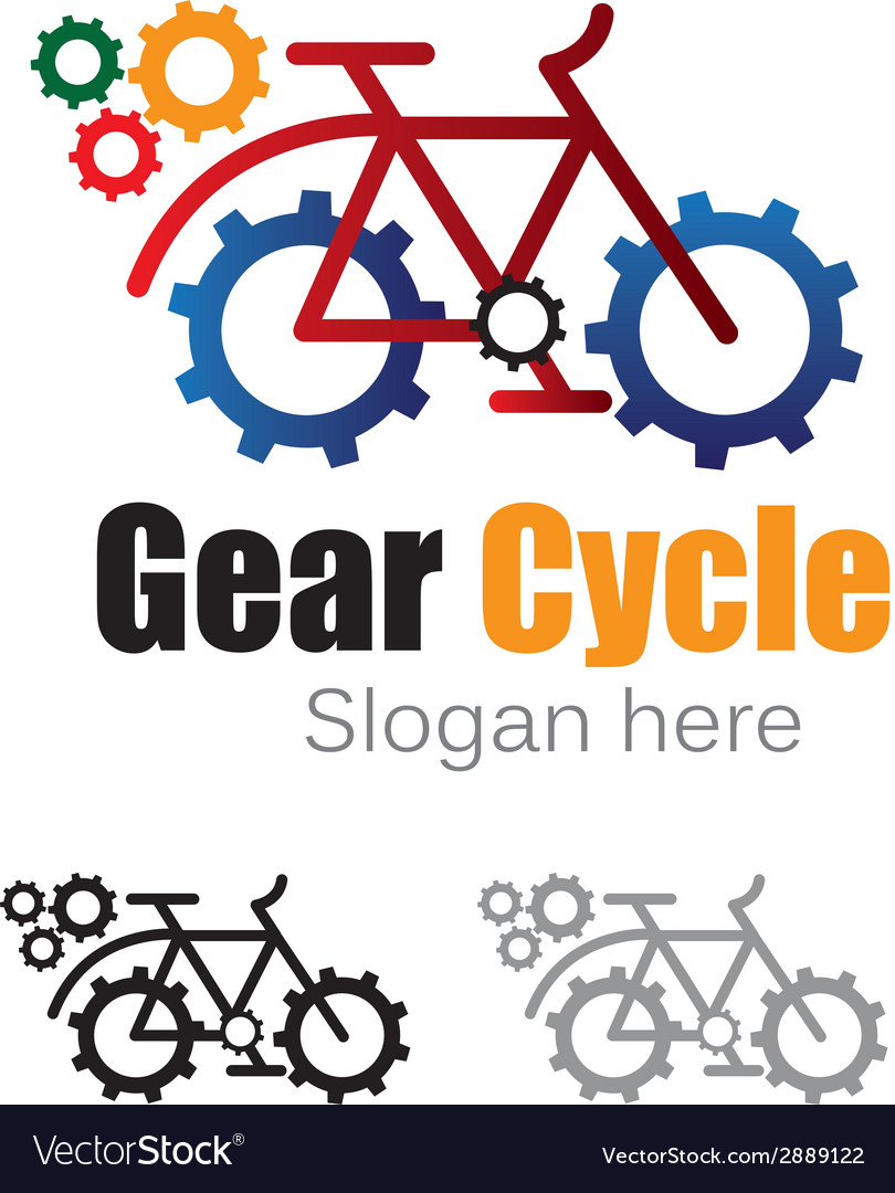 Gear cycle logo vector | Price: 1 Credit (USD $1)