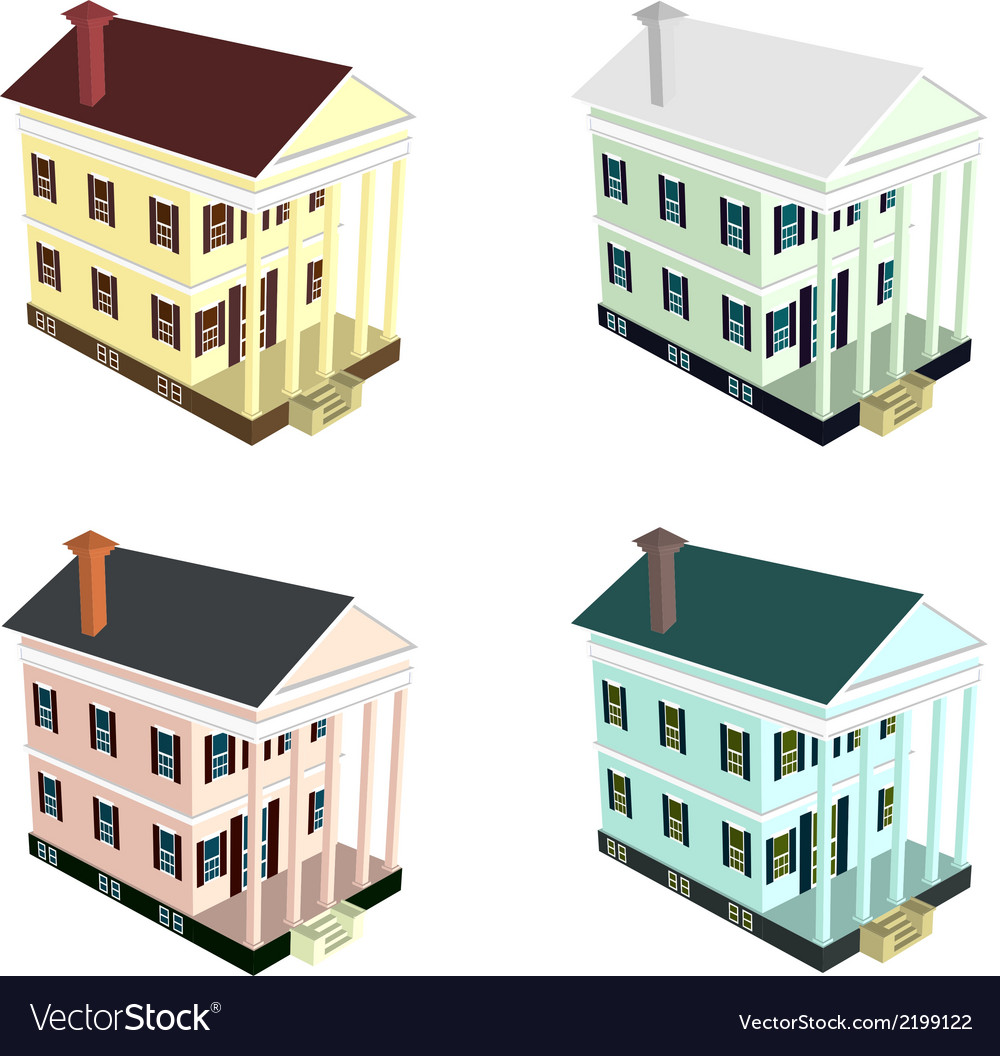 Isometric house style 10 vector | Price: 1 Credit (USD $1)