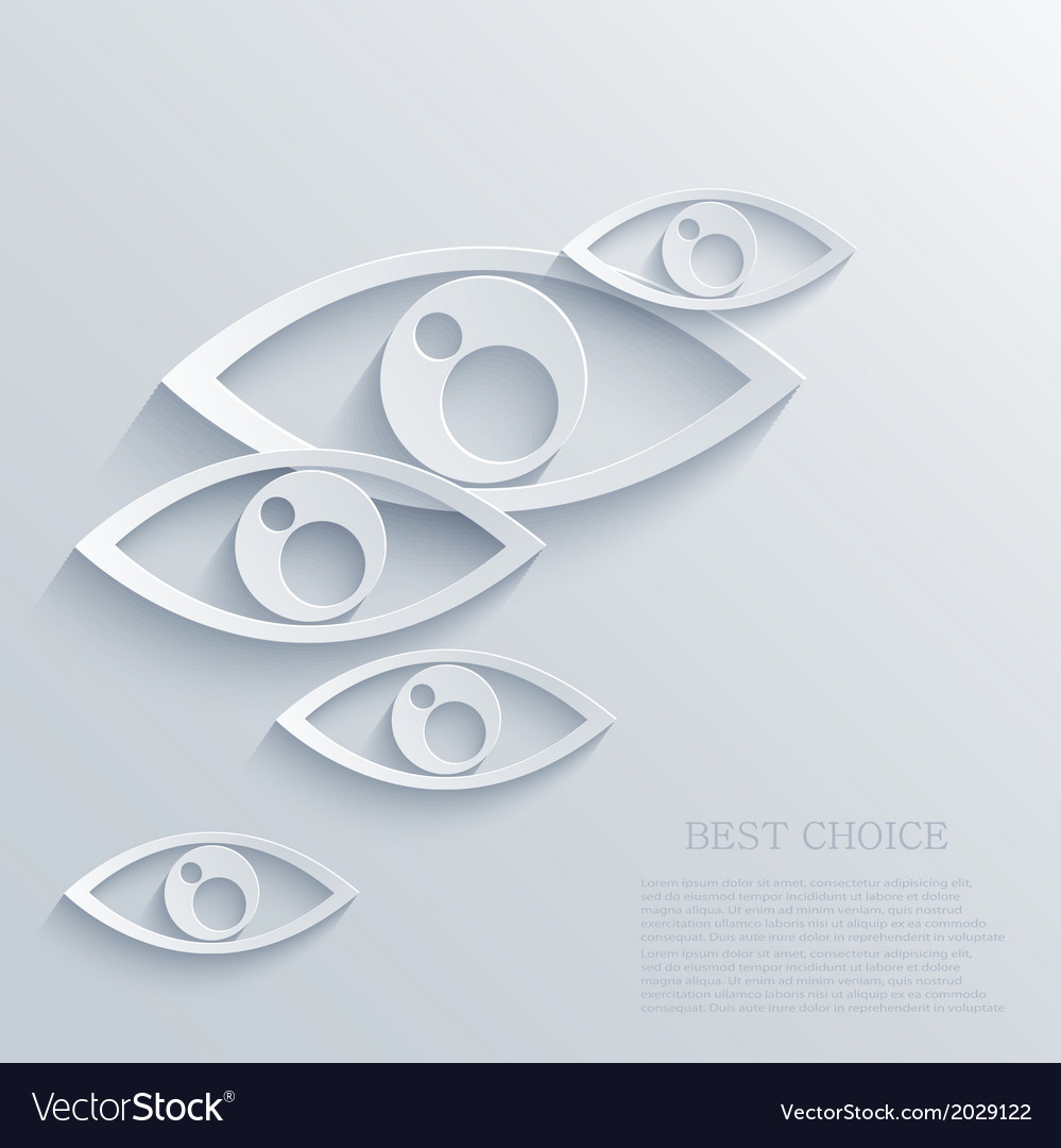 Modern eyes background eps 10 vector | Price: 1 Credit (USD $1)