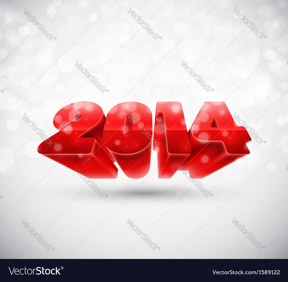 New 2014 year vector | Price: 1 Credit (USD $1)