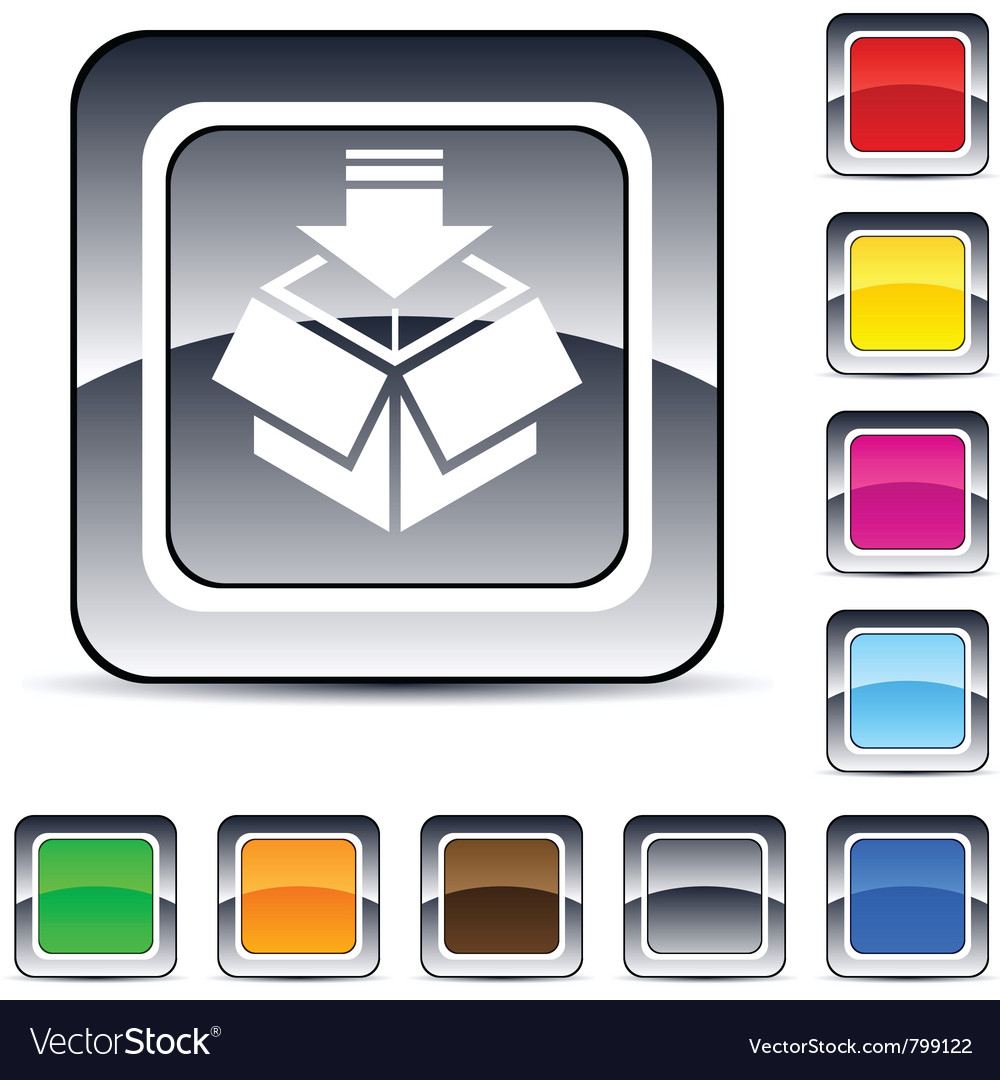 Package square button vector | Price: 1 Credit (USD $1)
