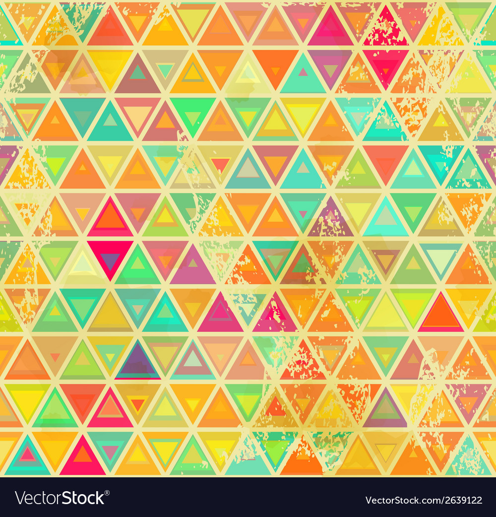 Triangular vintage grange seamless vector | Price: 1 Credit (USD $1)