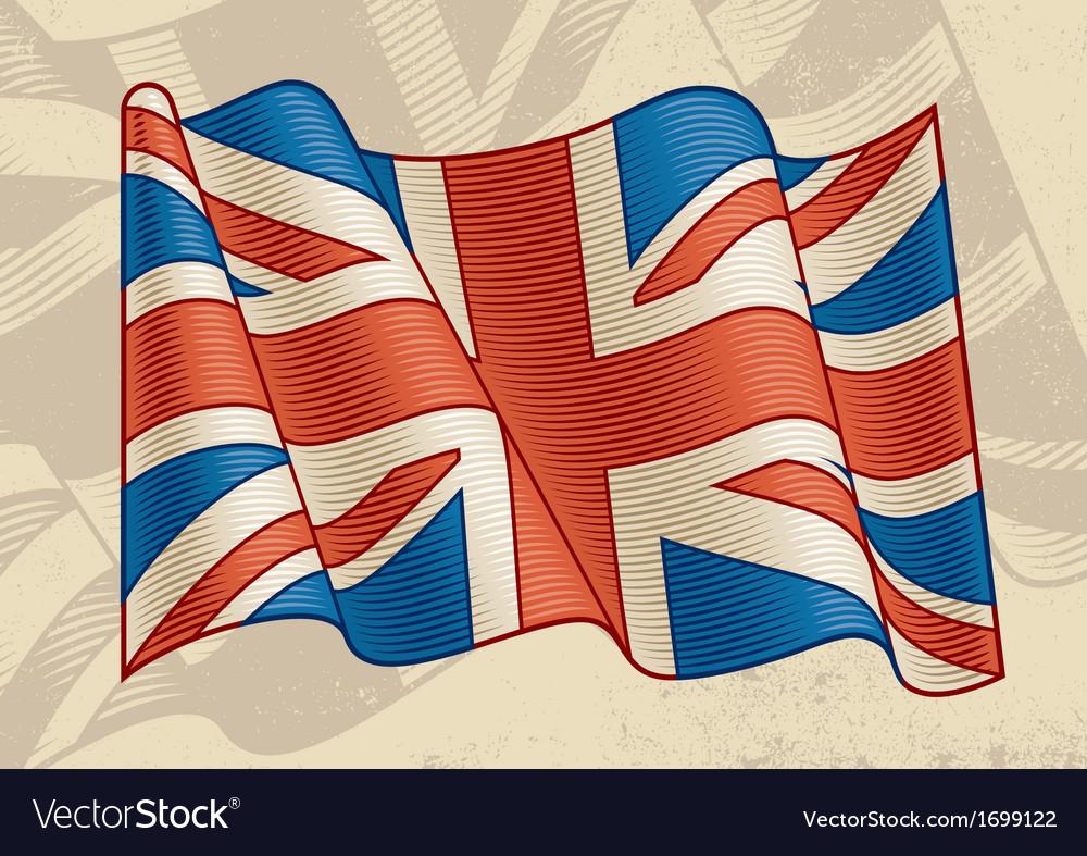 Vintage british flag vector | Price: 1 Credit (USD $1)