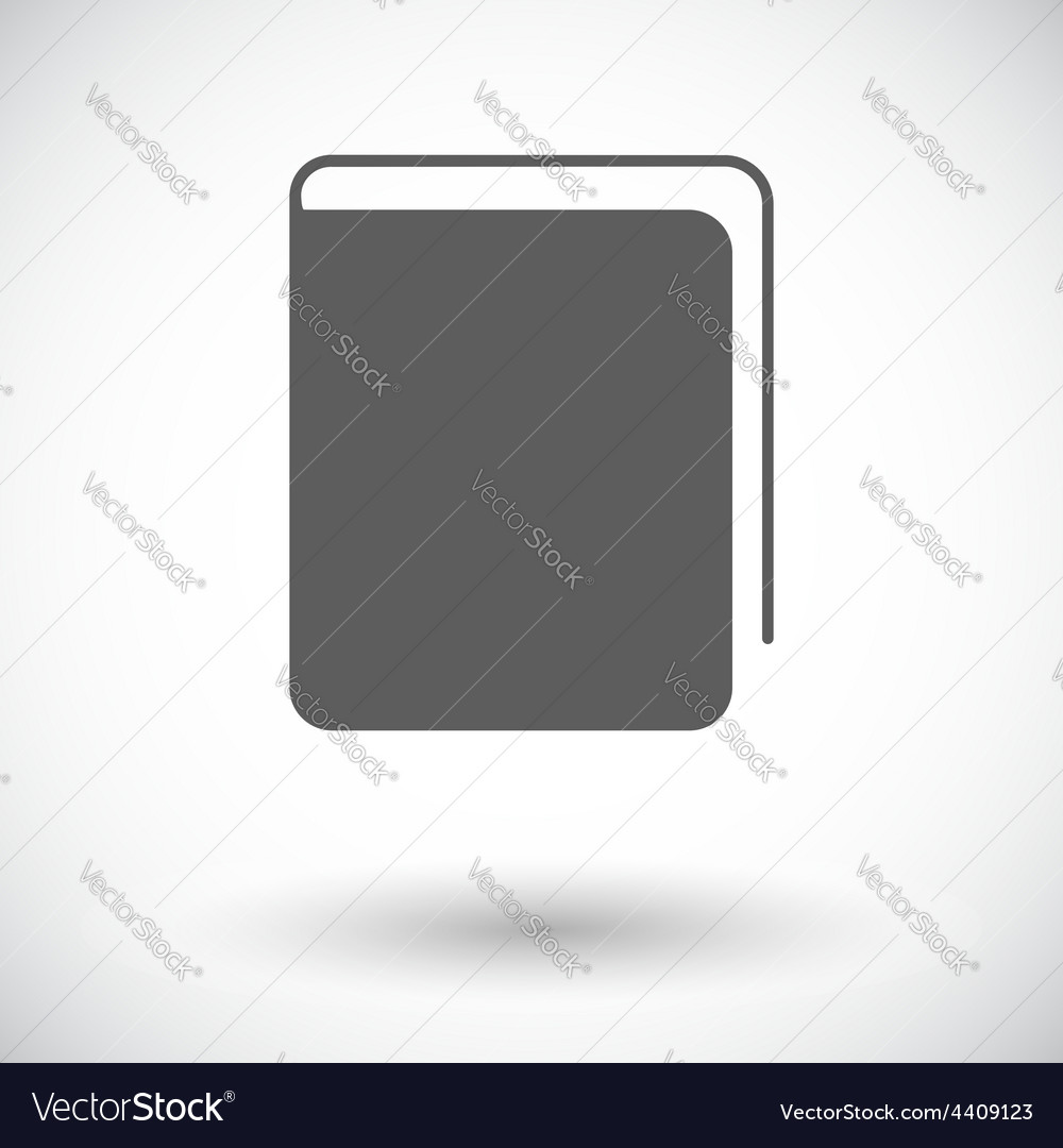 Book single flat icon vector | Price: 1 Credit (USD $1)