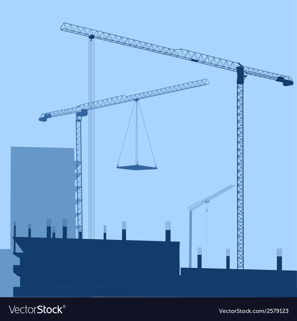 Building crane vector | Price: 1 Credit (USD $1)