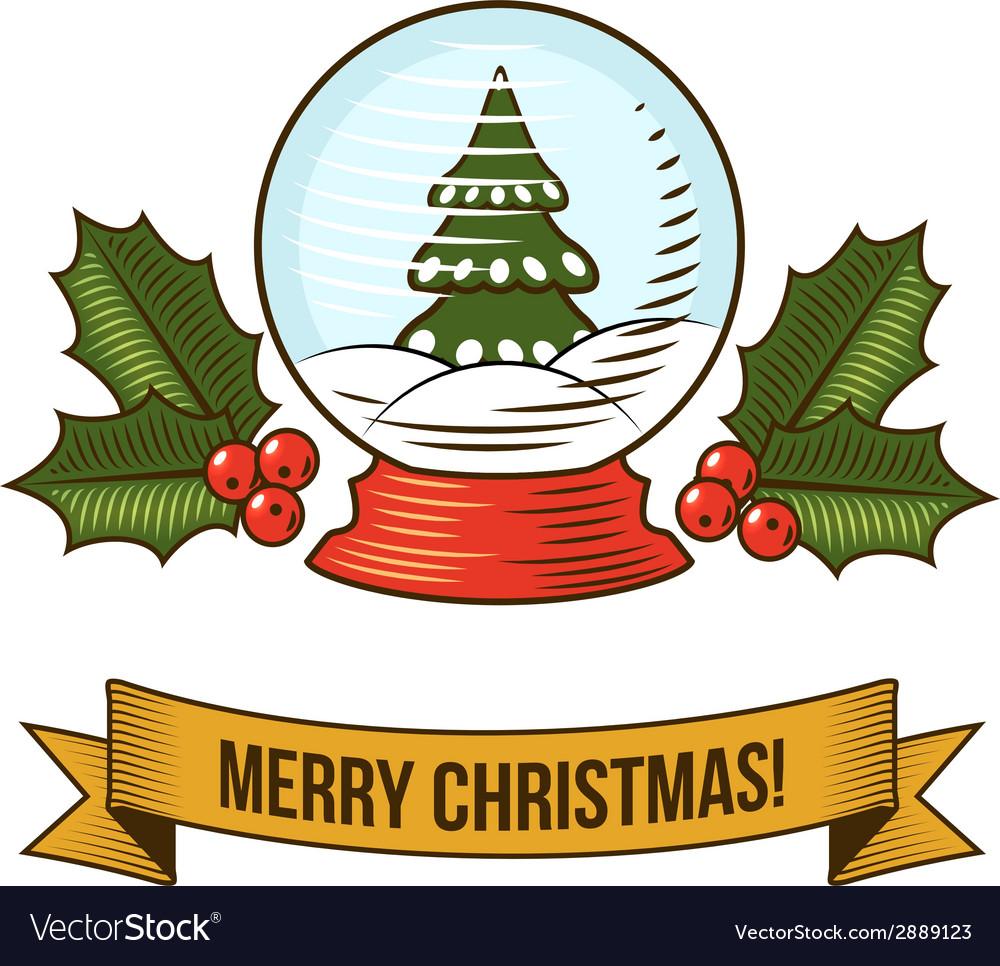 Christmas snow globe icon vector | Price: 1 Credit (USD $1)