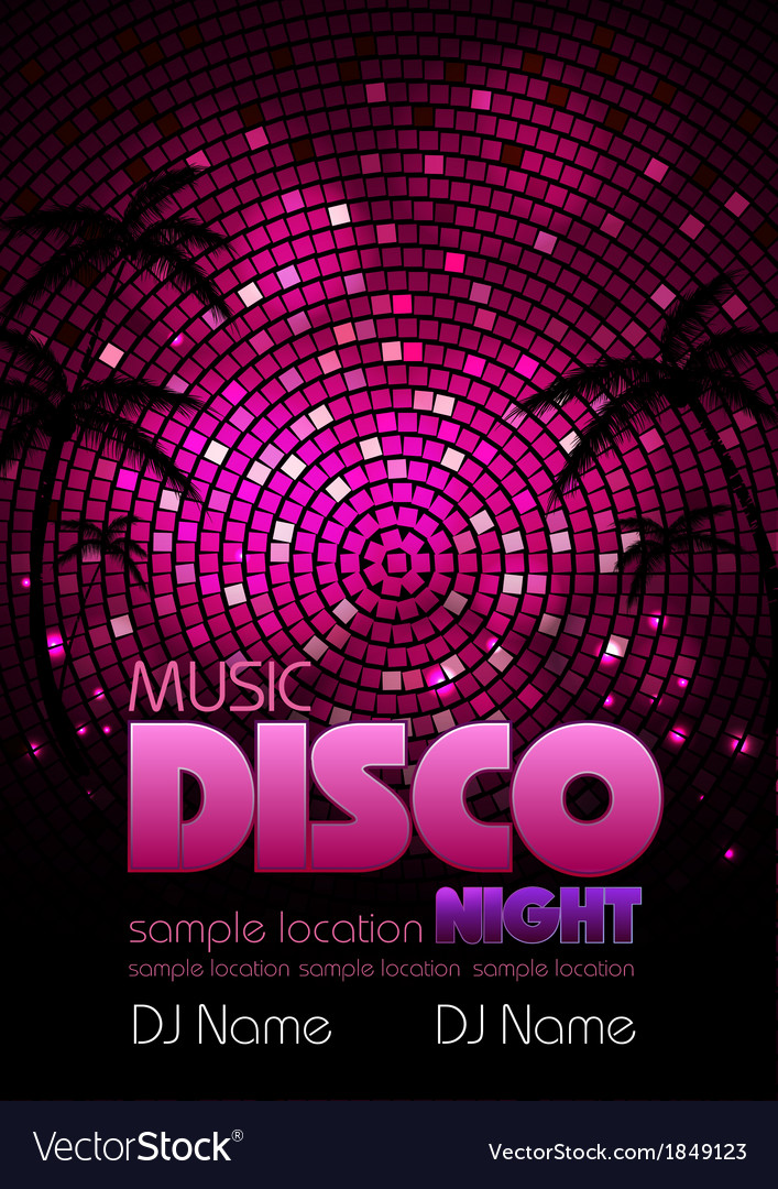 Disco poster background vector | Price: 1 Credit (USD $1)