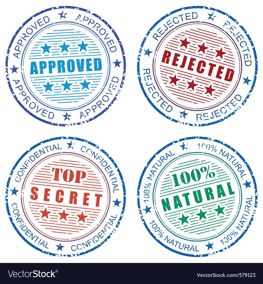 Grunge stamp prints vector   Price: 1 Credit (USD $1)