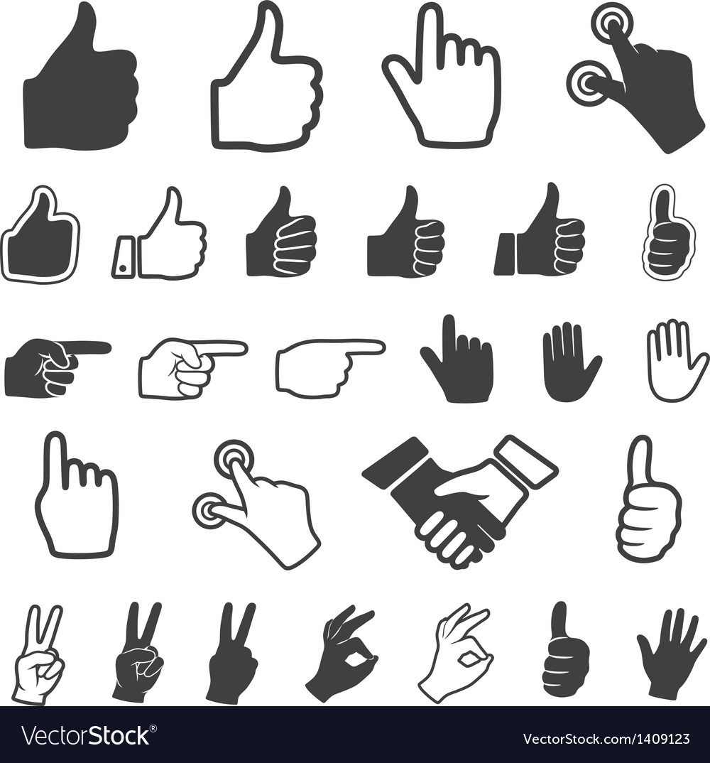 Hand icon vector | Price: 1 Credit (USD $1)