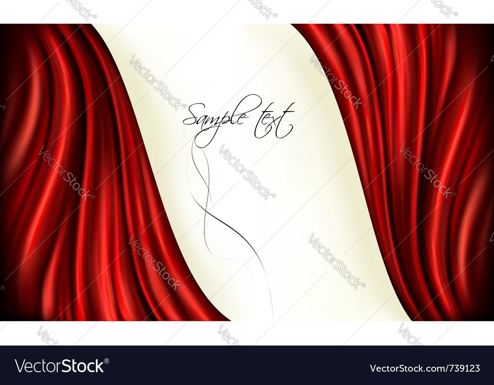 Red curtain background vector | Price: 1 Credit (USD $1)