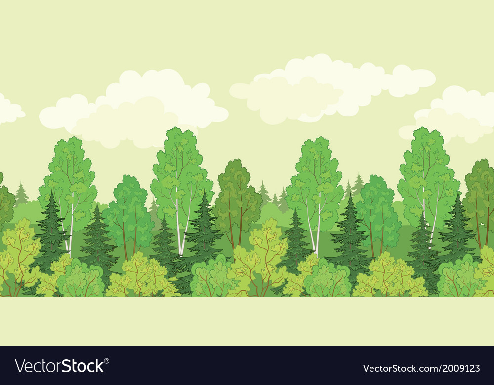 Seamless background forest vector | Price: 1 Credit (USD $1)