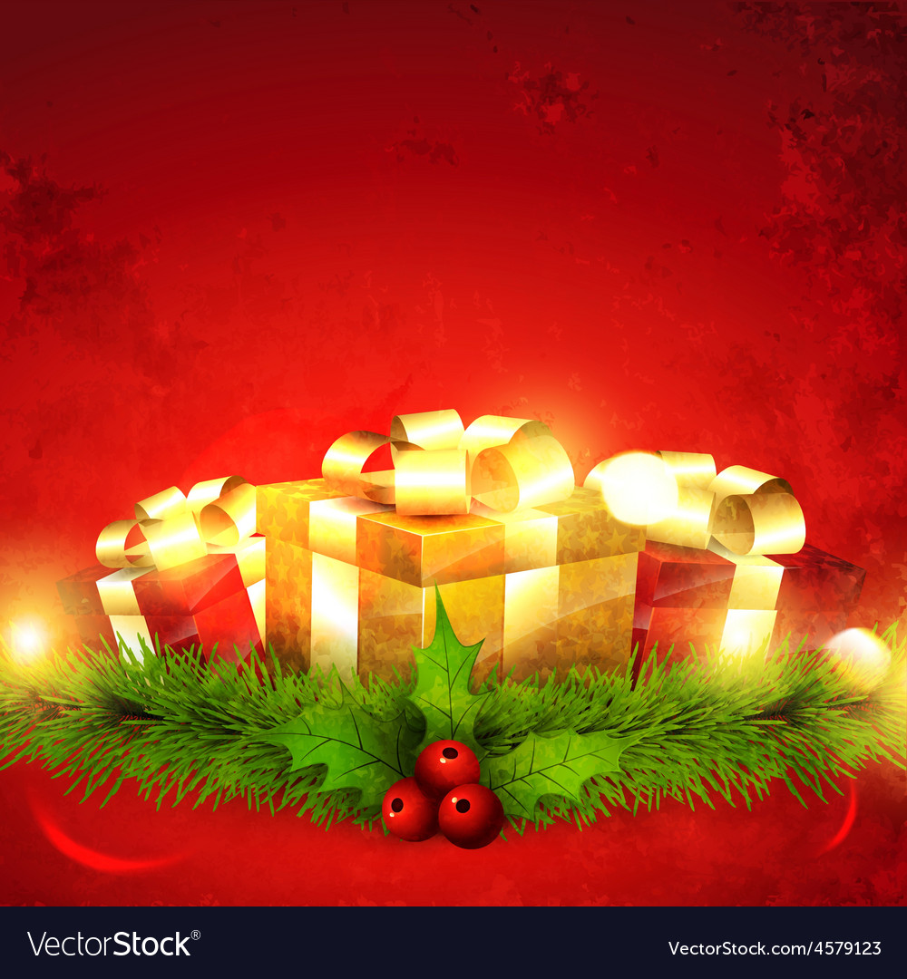 Seasonal gift vector | Price: 1 Credit (USD $1)