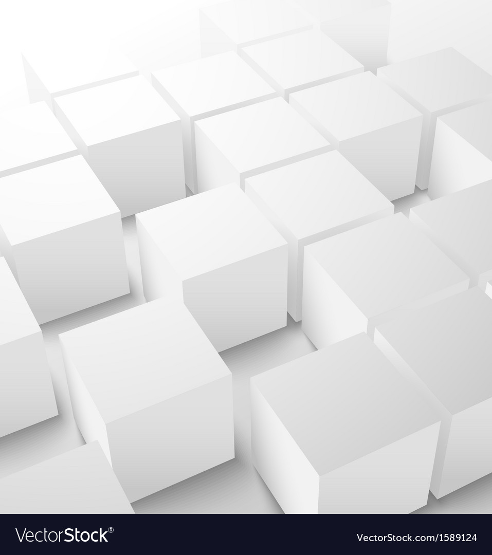 Abstract 3d cube background vector | Price: 1 Credit (USD $1)