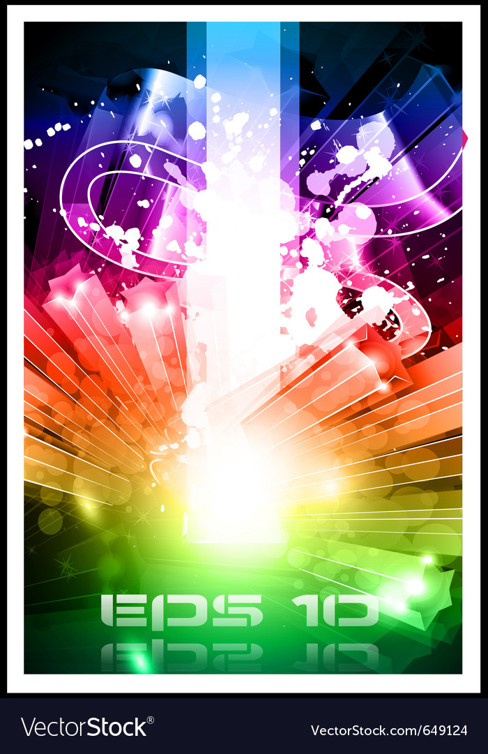 Abstract rainbow energy vector | Price: 3 Credit (USD $3)